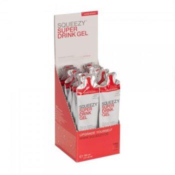 SQUEEZY Super Drink Gel Display citrom Koffein