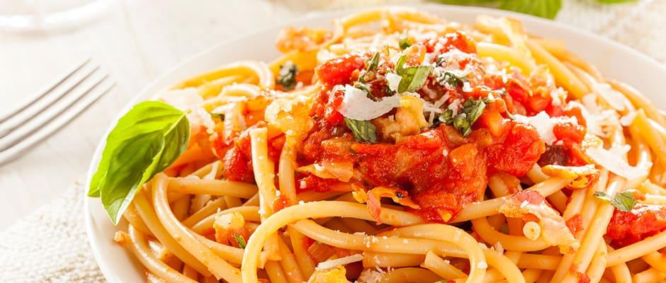 carbo loading spagetti