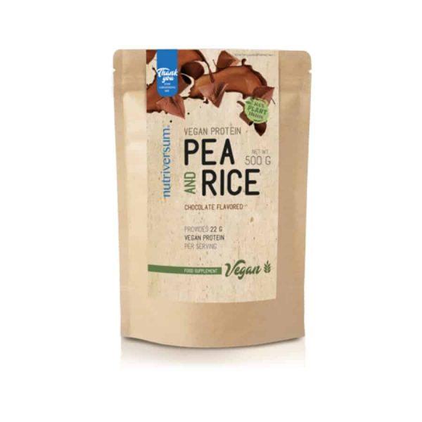 növényi fehérje vegán pea and rice_csokoládé
