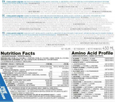 Nutriversum – VITA – Collagen liquid összetétel