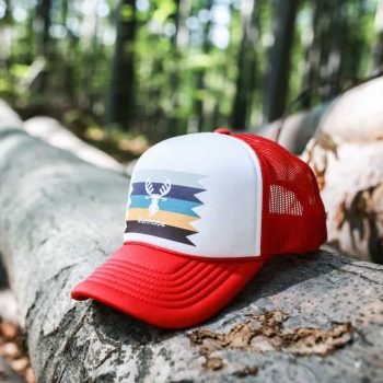 FOAM TRUCKER STRIPED piros