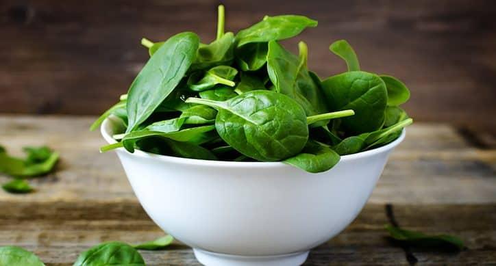 zöld levelű zöldségek