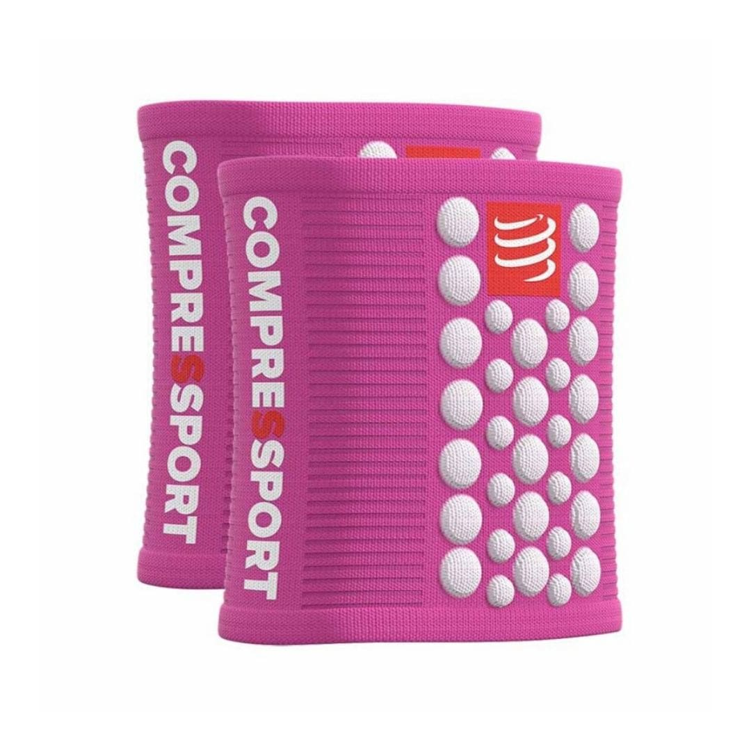 compressport-sweatband-3d-dot-csuklópánt pink